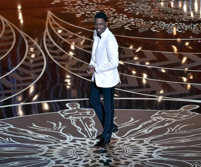 Chris Rock is hosting for the second time. The comedian opened the show [with a hilarious yet poignant monologue about racism in Hollywood.](http://www.womansday.com.au/celebrity/hollywood-stars/chris-rock-slams-will-smith-and-jada-smith-at-the-oscars-14790)