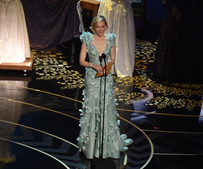 Cate Blanchett looked radiant as she presented an award.