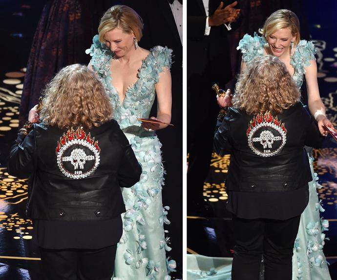 Cate Blanchett was on stage to congratulate them!