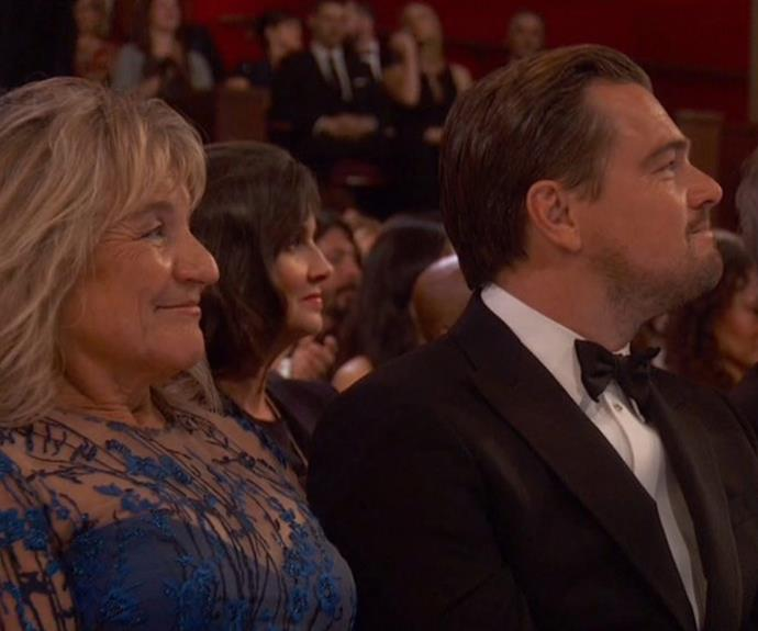 Leo was joined by his beloved mother, Irmelin Indenbirken, inside the event.
