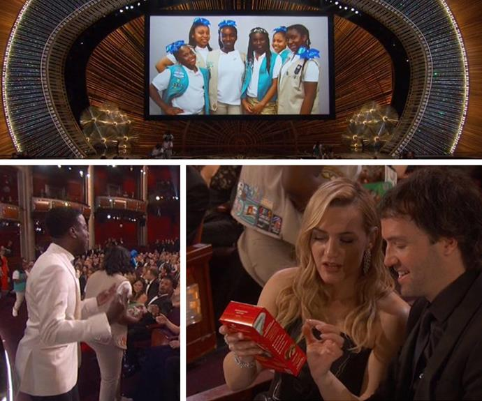 Chris Rock took a moment to ask the wealthy audience members to buy his daughter's Girl Guide cookies! The results were hilarious.