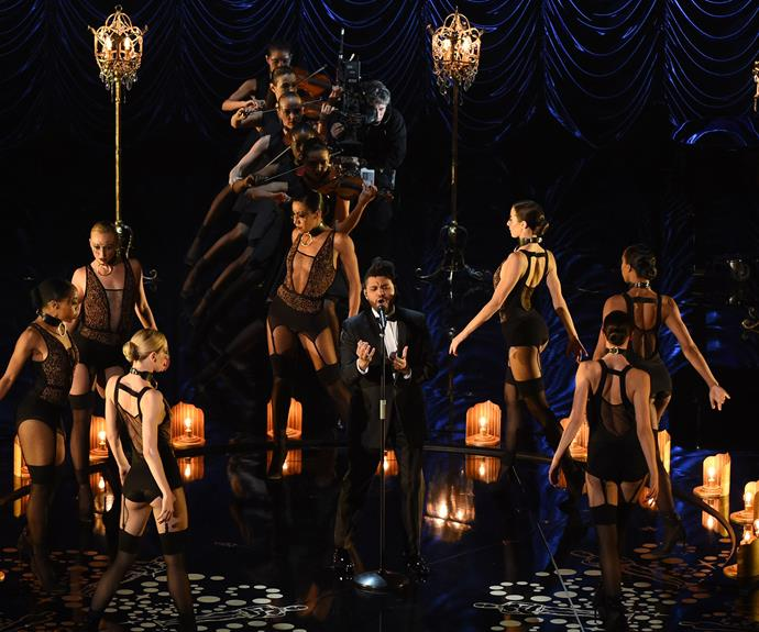 The Weeknd delivered a killer performance of *Earned It*, which is nominated for Best Song.
