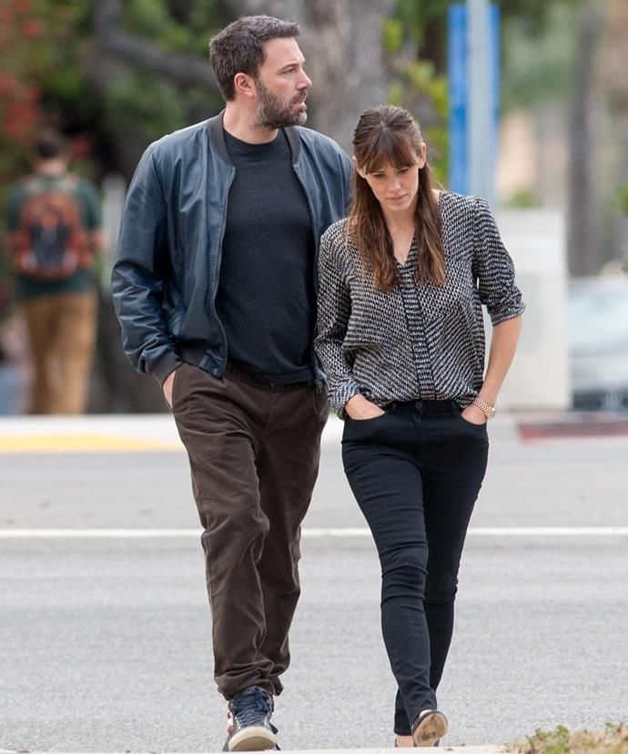 Jen and Ben pictured two months before their split was announced.
