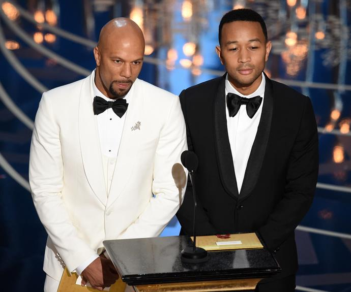 John Legend and Common made for a dapper duo.
