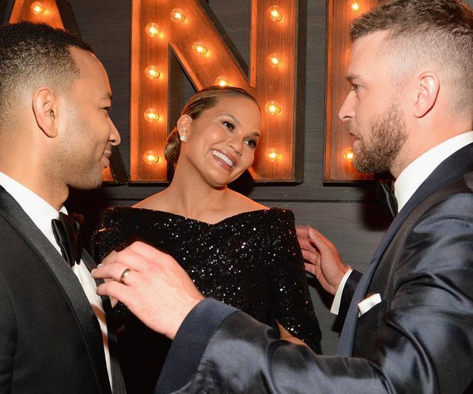 JT congratulates parents-to-be Chrissy Teigen and John Legend.