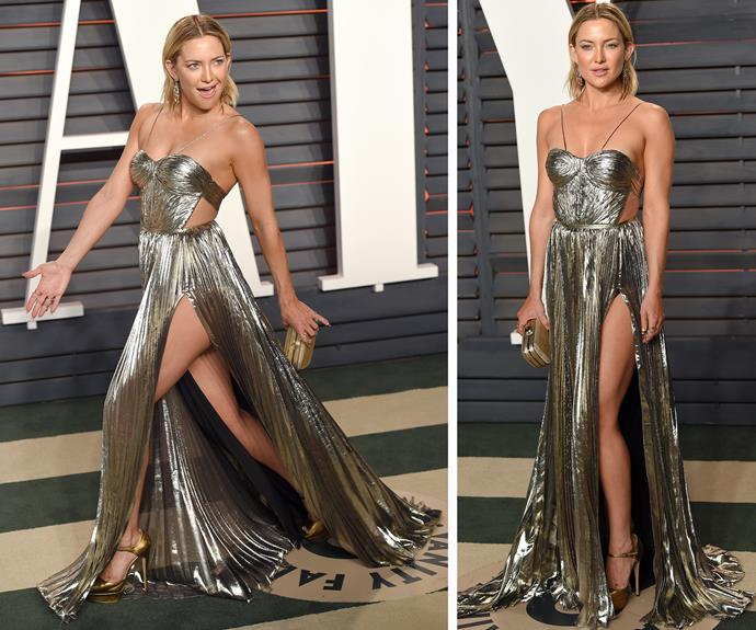 Va va voom: Kate Hudson definitely knows how to put her best foot forward.