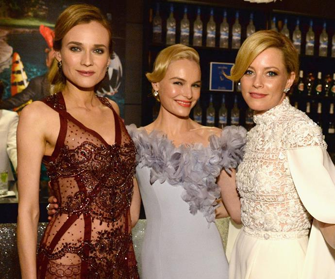 Elizabeth Banks has more fun with fellow blondes, Diane Kruger and Kate Bosworth.