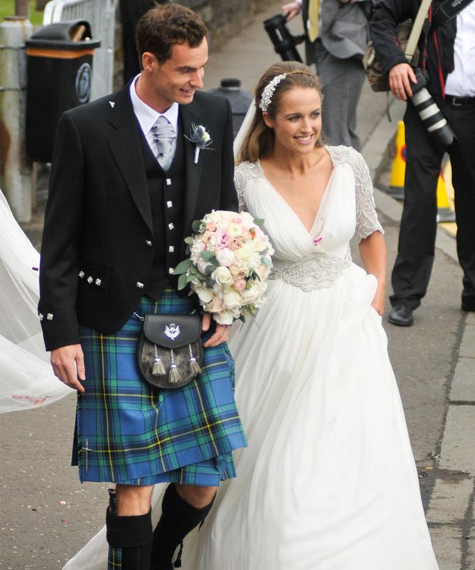 The happy couple tied the knot on the 11th of April last year at Dunblane Cathedral in Scotland.