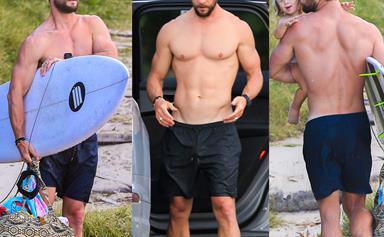 Thor blimey! The Hemsworths hit the beach