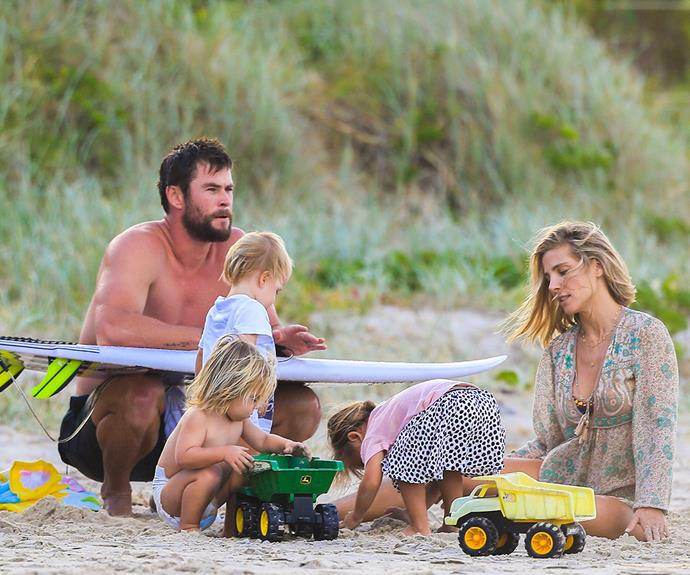 """""""This is the place I want my kids to grow up, the world I want them to be part of,"""" Chris has said of their Aussie upbringing."""