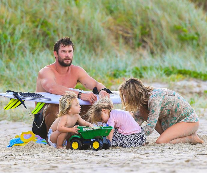 Over the Christmas break, Chris and Elsa played host to Liam Hemsworth and [his rumoured finace Miley Cyrus](http://www.womansday.com.au/celebrity/australian-celebrities/miley-cyrus-liam-hemsworth-back-together-14390) as they reunited in Byron Bay.