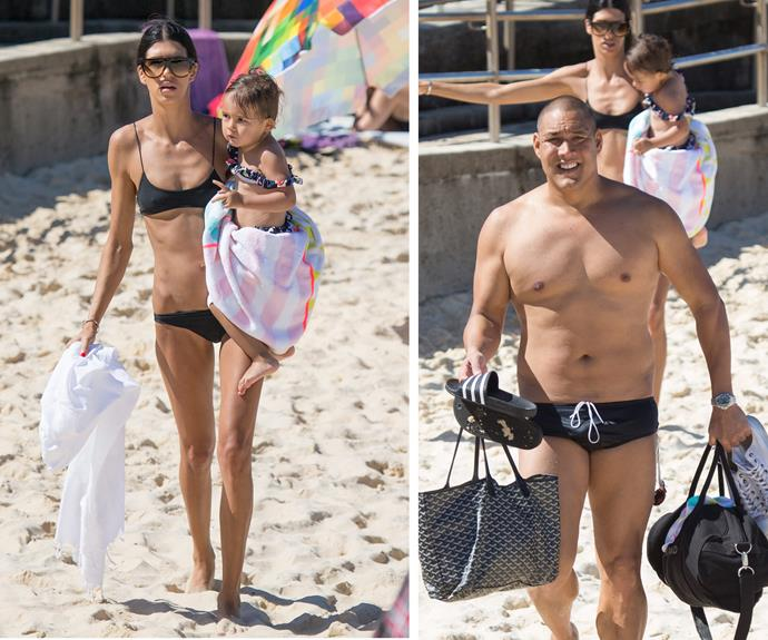 Last week, Geoff Huegill and his wife, Sara Hill, took their youngest daughter, Gigi, to North Bondi for a morning swim.