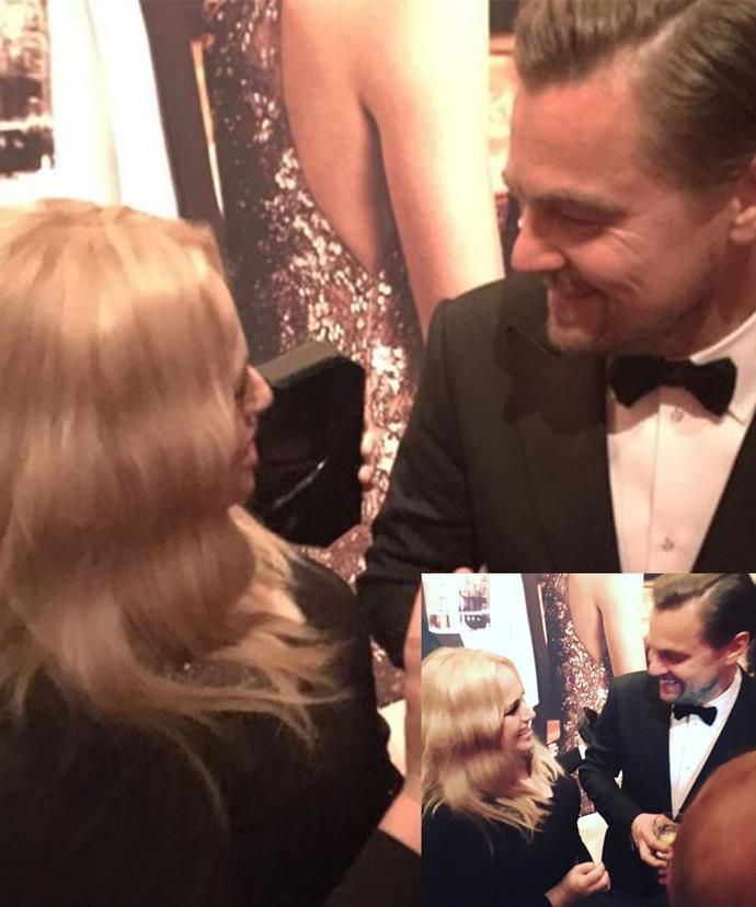 """So nice, she posted pictures on Instagram of her moment with Leo twice. """"Love you Leo X"""" was the caption."""