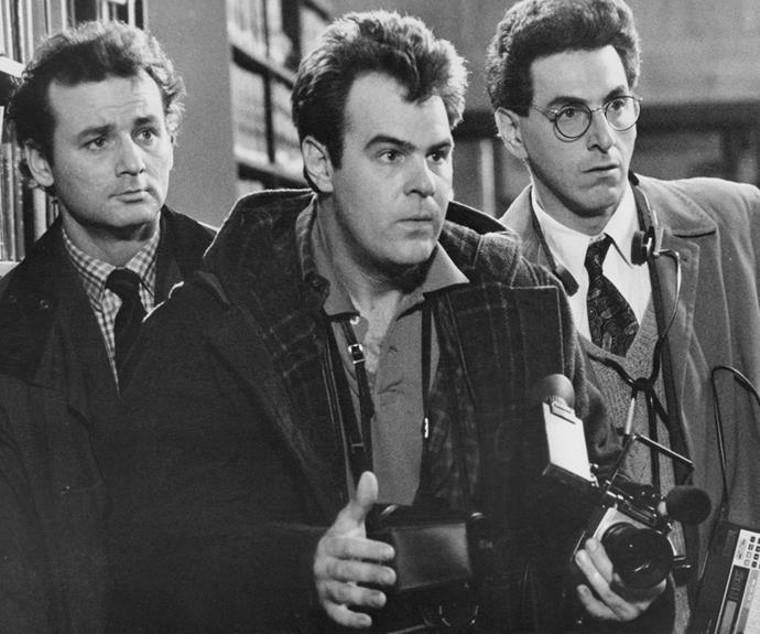 Flashback! Bill Murray, Dan Aykroyd and Harold Ramis in the 1984 original.