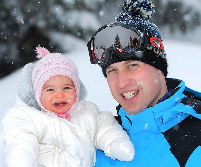 It's pretty clear that 10-month-old Princess Charlotte is the apple of Dad's eye. Look at those first few teeth!