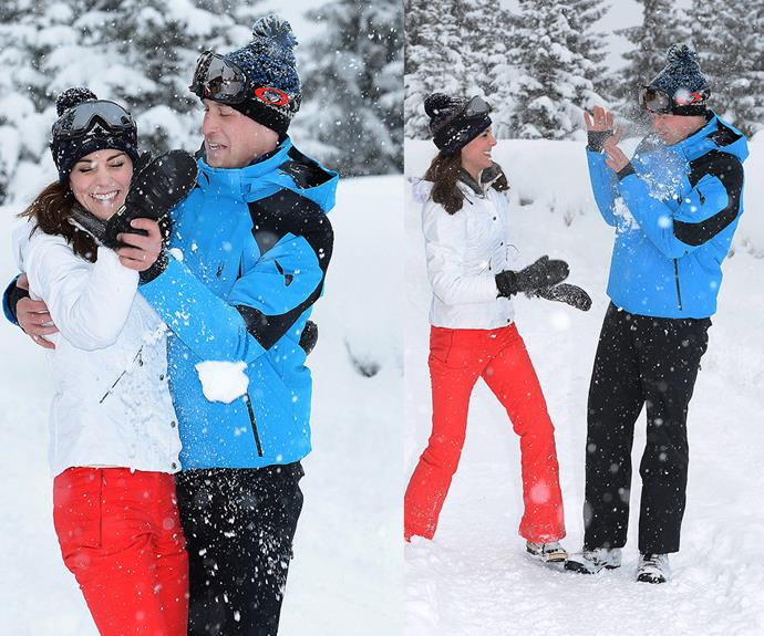 Not many women can say they beat the future King of England in a snowball fight.