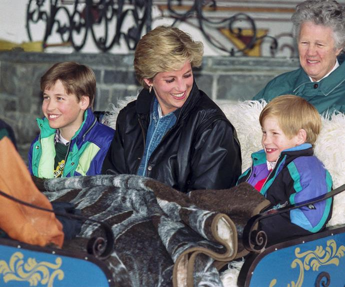 "The proud mother once revealed:  ""I live for my sons. I would be lost without them."" Diana absolutely cherished her holidays with hers boys."