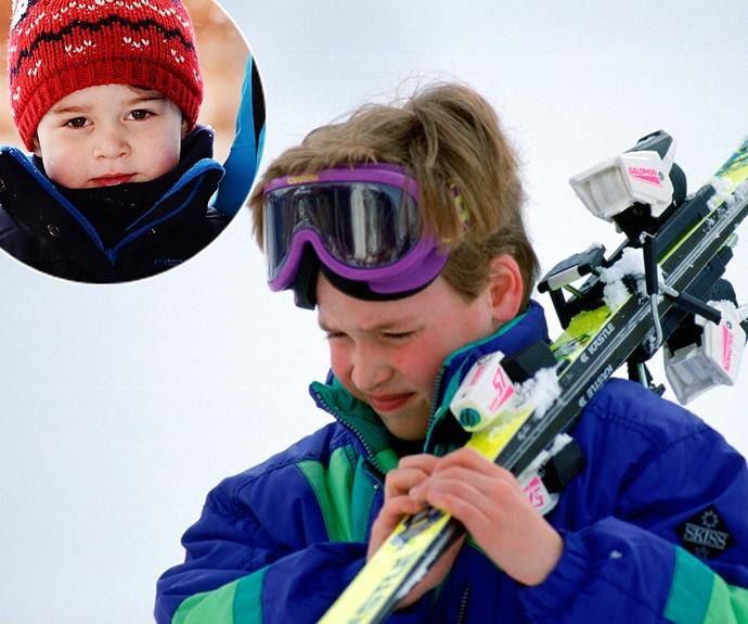 Cuteness overload... Soon we will see our favourite royal cherub George taking on the slopes.