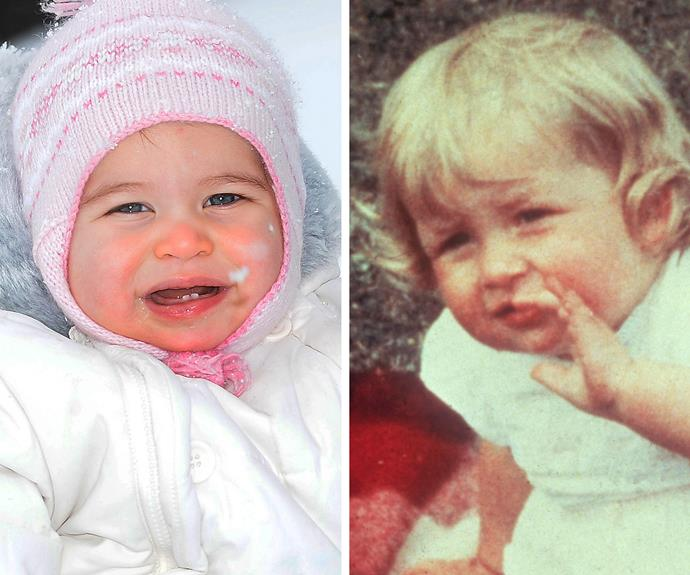 The new photos made one thing very clear, ten-month-old Princess Charlotte Elizabeth Diana of Cambridge is the spitting image of her grandmother, the late Princess Diana (pictured on the left at her first birthday party). The pair share the same pretty almond eyes and rosy cherub cheeks (made famous by her big brother Prince George!)