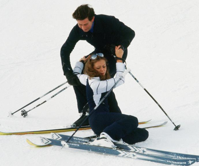 Despite being a seasoned skier, in 1980 the Prince had an awkward run-in with a fellow mountain rider during a day on slopes Switzerland.