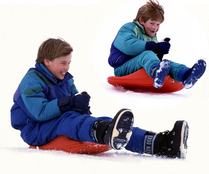 Sledging for a good time!