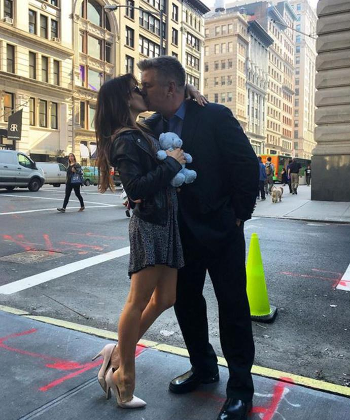 Alec and Hilaria Baldwin revealed their happy news by posting this sweet photo to Instagram.