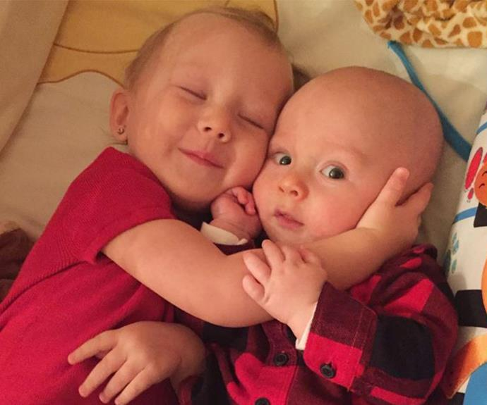Too sweet! Judging by these gorgeous siblings, the new Baby Baldwin is going to be welcomed into a very loving family.