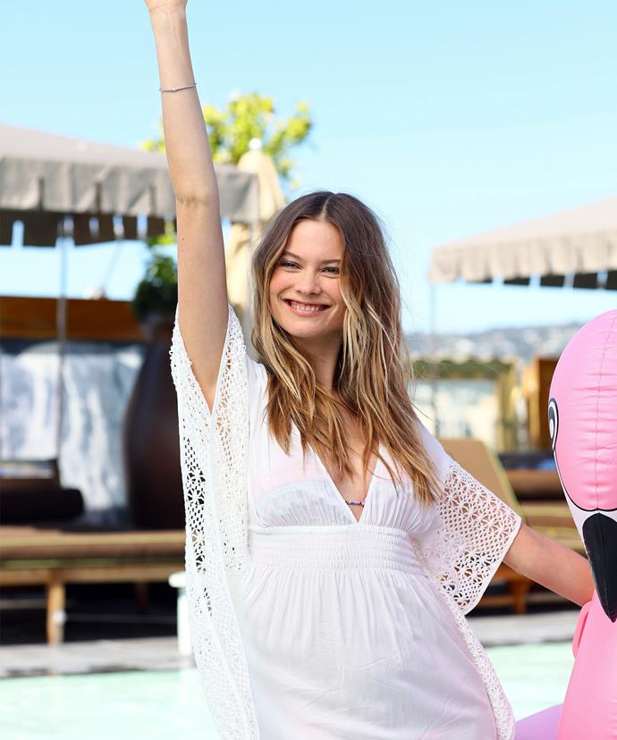 BUMP WATCH: Behati pictured earlier this week sporting a teeny-tiny baby bump!