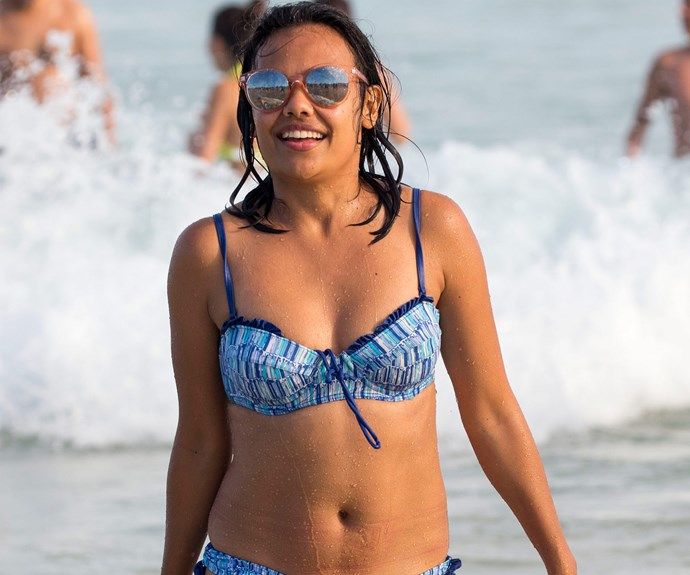 The Logie-winning *Love Child* actress was in fine form at Sydney's iconic beach.