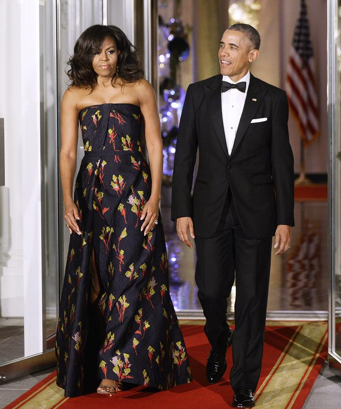 """When I first elected to this office, Malia was just ten and Sasha was seven. And they grow up too fast,"" the 54-year-old dad mused during a state dinner. ""Now Malia is going off to college... And I'm starting to choke up."""