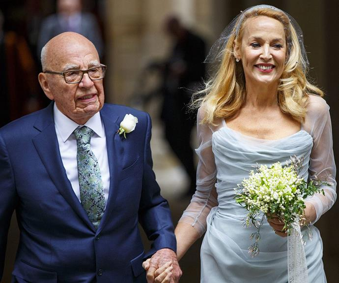 Rupert, 84, and Jerry, 59, sealed the deal on their whirlwind romance at London's Spencer House.