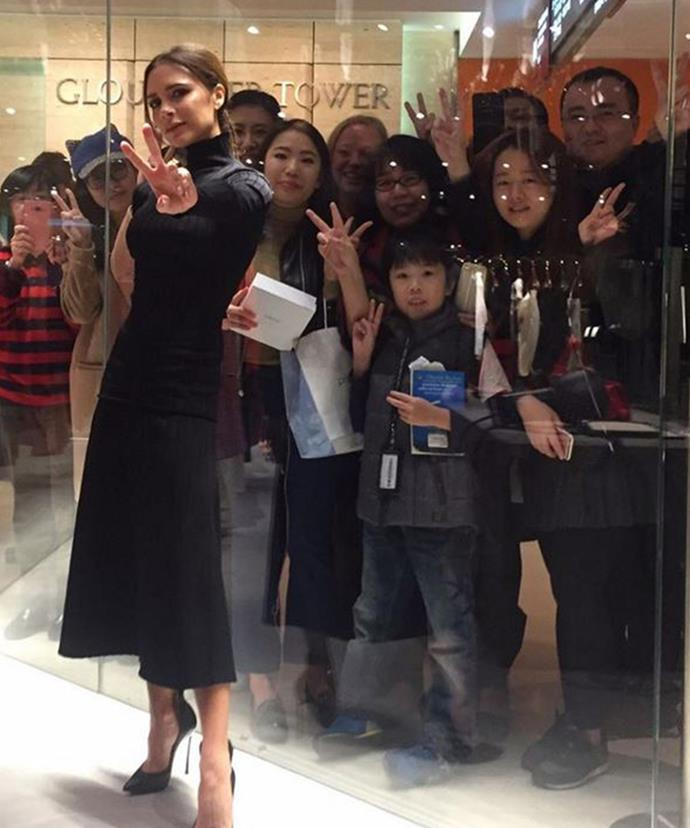 Through the looking glass! Victoria Beckham is copping backlash for this photo.