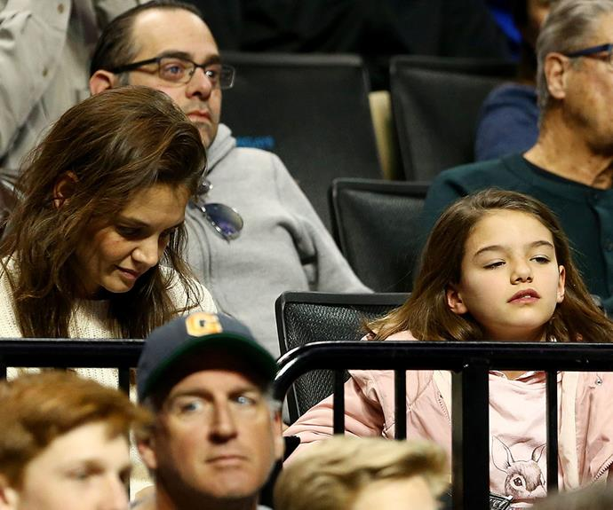 Suri Cruise made a rare public appearance with her mum in New York City on Sunday.