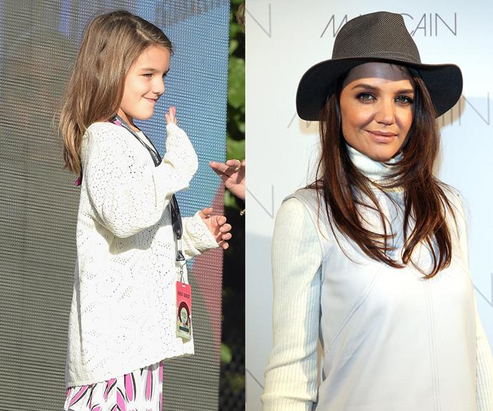 Seeing double: The mummy-daughter duo look very similar.
