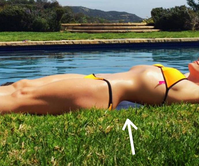 """""""The gap in your back should be stone, not water. Bad photoshop,"""" said one commenter."""