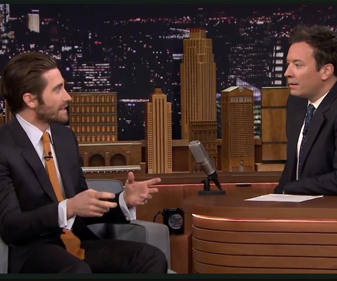 Jake had host Jimmy Fallon captivated as he recalled his horror audition story.