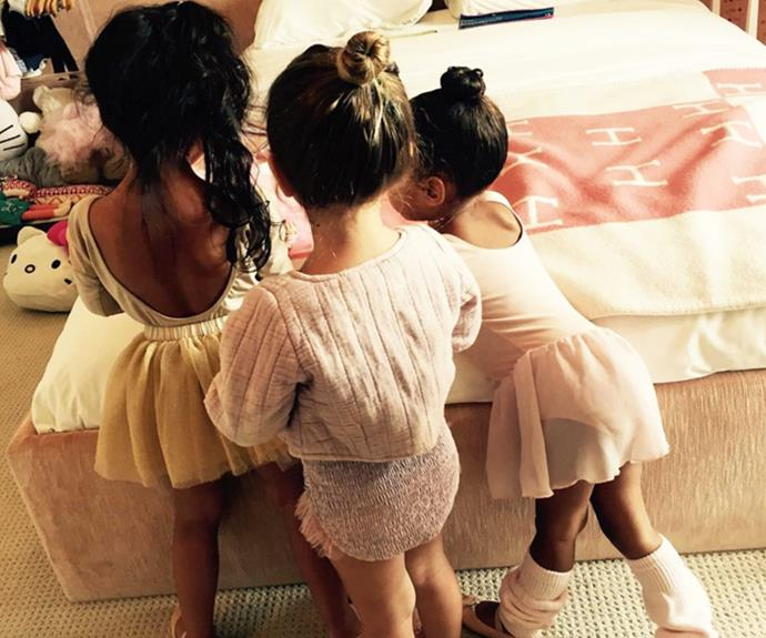 Tutu cute! Koutney Kardashian took to Instagram to share this candid snap of her daughter Penelope celebrating the Easter weekend with some dress-ups.