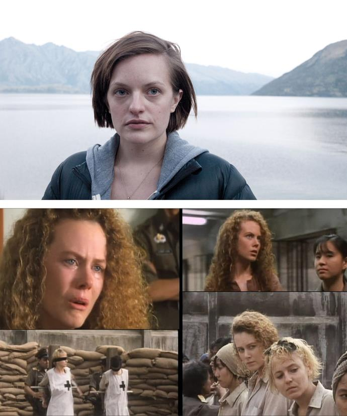 Nicole is rumoured to join Elizabeth Moss [pictured above] in the Aussie drama, *Top Of The Lake*. Her last Australian television appearance was in Ten's 1989 miniseries *Bangkok Hilton* [pictured below].