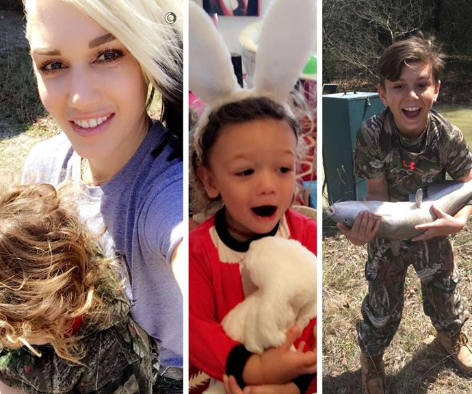 Gwen has been updating fans with her fun Easter festivities through her snapchat.