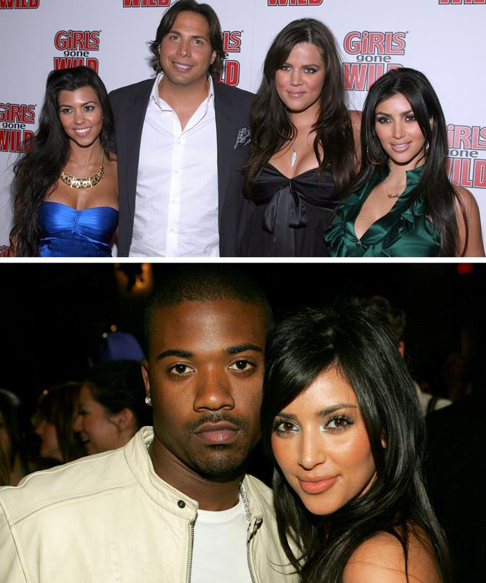 Joe Francis [pictured above with the Kardashians] is the alleged source in the new book. He claims Kris leaked Kim's sex tape with then-boyfriend Ray J [pictured below].