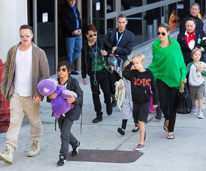 Brad Pitt - pictured here with children Maddox, Pax, Shiloh, Knox and Vivienne - could have added two more children to his larger-than-life family!