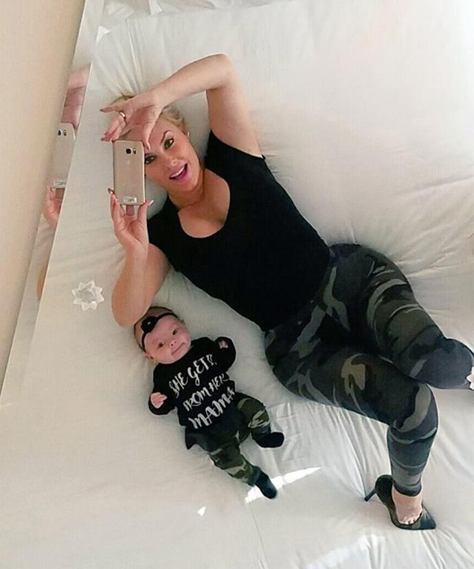 Too cute! Since welcoming Chanel Nicole last year, Coco has fully embraced motherhood.