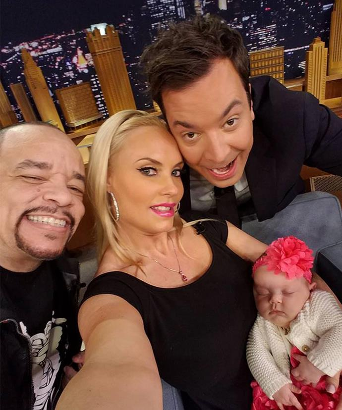 Say cheese! The family posed up a storm when they appeared on *The Tonight Show Starring Jimmy Fallon* last week.