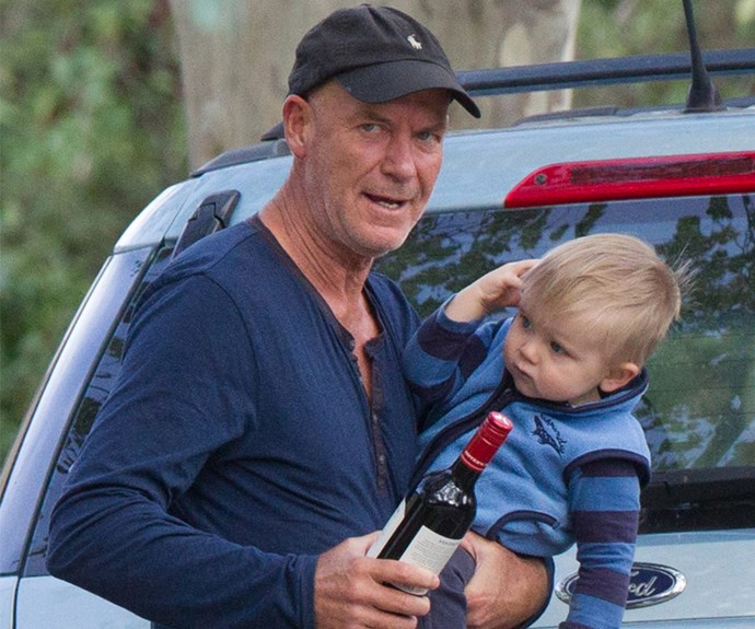 Too cute! The *House Husbands* star loves bonding time with his son.