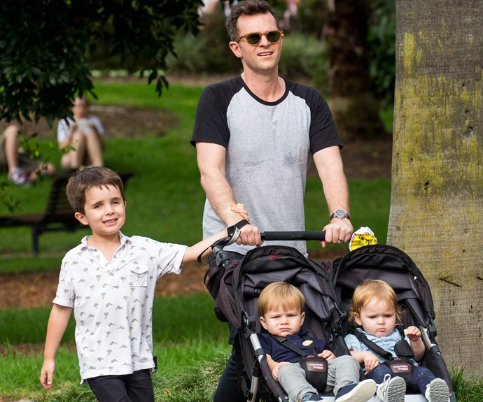 Meanwhile, her *Today Extra* co- host David Campbell has been one busy man. The popular presenter enjoyed a weekend play date with his three gorgeous children, Leo, five, and twins Betty and Billy, who turned one in January.