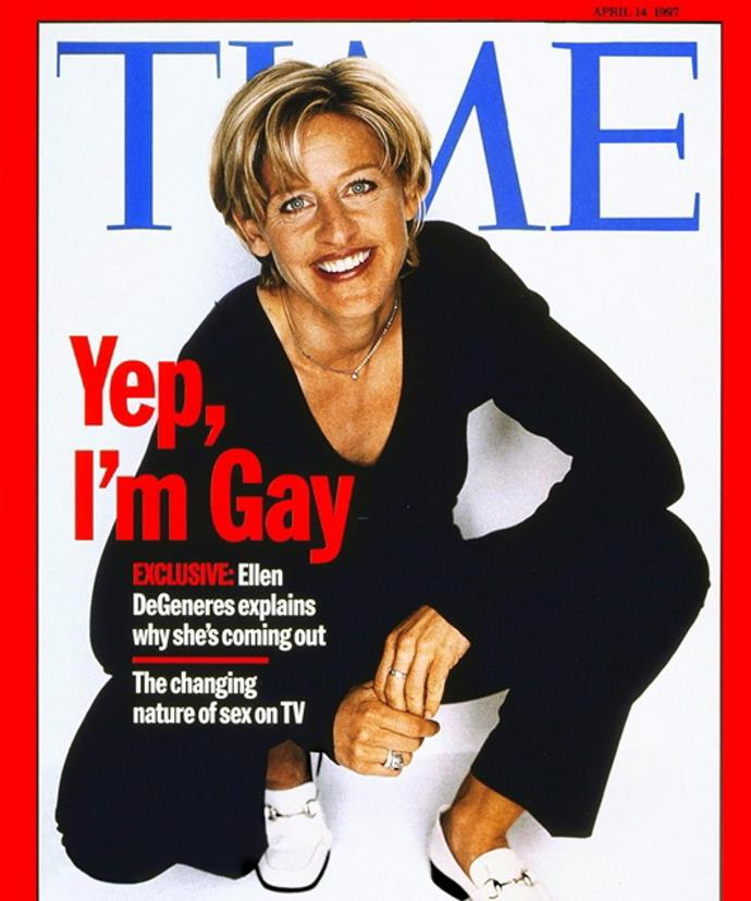 Ellen featured on the cover of Time Magazine in 1997 to finally reveal she was gay