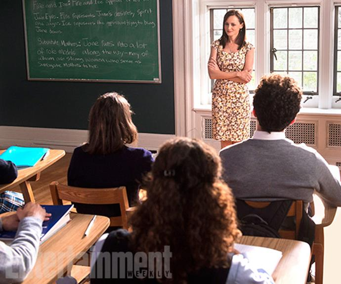 Is Rory a teacher? *Image Credit: CHRIS CRAYMER for EW*