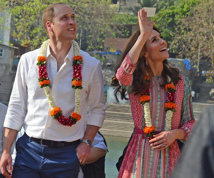 """When Catherine and I were married, India was the first place on Catherine's list that she told me that she wanted to visit,"" the 33-year-old said."