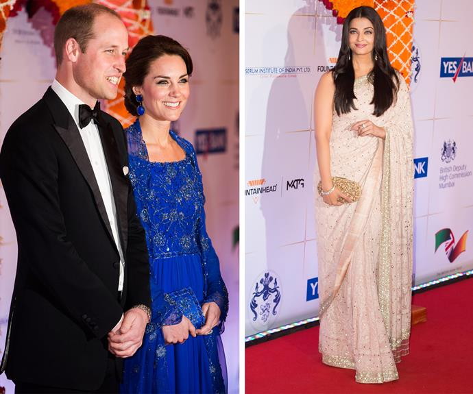 "The British royals rubbed shoulders with Bollywood's royalty including international beauty, Aishwarya Rai. Bollywood Madhuri Dixit spoke about meeting the royals, telling reporters, ""We talked about Indian movies and how they're getting popular everywhere. She said she loves being here and the people are very welcoming this time, but she was worried she may miss her children."""