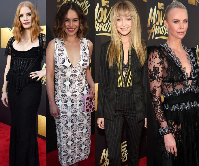 Another year, another award ceremony. Last Sunday Hollywood came out for the 2016 MTV Awards. From Jessica Chastain, Emilia Clarke, Gigi Hadid and Charlize Theron - fashion was the word on everyone's lips!